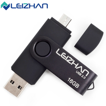 LEIZHAN OTG USB Flash Drive Black 64g 32g 16g 8g 4gig Dual Plug Flash Pendrive USB Stick Pen Drive Android Phone Memory Card 2.0(China)