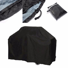 1Pc 3 Sizes Black Waterproof Bbq Cover Outdoor Rain Barbecue Grill Protector For Gas Charcoal Electric Barbeque Grill(China)