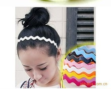 Candy color Fashion waves Lady Plastic Hair Band Headband Teeth Hair 5pcs/lot
