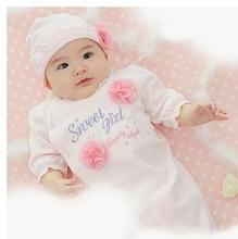 A undertakes to female baby princess baby garment of cotton, climb clothes jumpsuit dress full moon one hundred days