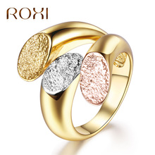 Buy ROXI Charm Personalized Anillos Gold Color Cocktail Party Wide Rings Women three Colors Female Size Rings Jewelry bague 2017 for $2.75 in AliExpress store