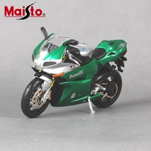 Maisto 1/12 Motorcycle Model Benelli Tornado 1130 Mteal Diecast With Box Green Motor Bike Kids Collections Gift
