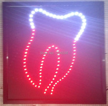 2017 Hot Sale custom 19x19 inch indoor Ultra Bright flashing dentist window shop neon open sign of led-(China)