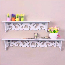 White Wall Hanging Shelf Goods Convenient Rack Storage Holder Home Bedroom Decoration Ledge Home Decor S/M QW882499