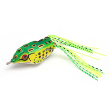 1PCS 5cm 10g Frog Lure Fishing Lures Treble Hooks Top water Ray Frog Artificial Minnow Crank Strong Artificial Soft Bait