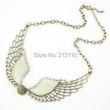 Kymyad Vintage Choker Necklace Elegant Brand Designer Wings Necklaces & Pendants Bijoux Women Statement Vintage Collares