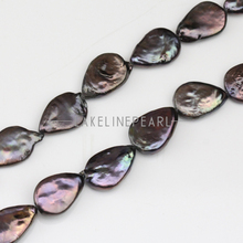 10-11x15-16mm black color drop keshi pearl strands,tear drop shape keshi pearl,freshwater coin pearls,flat keshi pearls