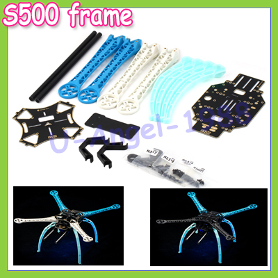 New S500 Carbon Fiber Four Axis Qudcopter Frame  High Landing Gear for  F450 Upgrade Version FPV Qudcopter+Free shipping<br>
