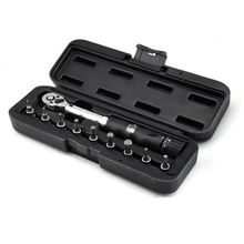 "1/4""DR 2-14Nm bike torque wrench set Bicycle repair tools kit ratchet machanical torque spanner manual torque wrench(China)"