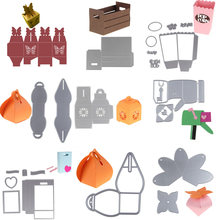 3D Gift candy chest box mail metal Dies Cut decorate Scrapbooking Craft Die cuts Stamp DIY Embossing folder paper Cards Stencil(China)