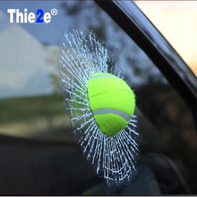 Car-styling 3D Sticker Tennis Hit The Glass For Ford Focus 2 3 Mazda VW Golf 4 5 6 7 Polo Kia Opel(China)