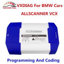 DHL Free Ship Original ALLSCANNER VXDIAG OBDII Diagnostic Tool VXDIAG VCX Auto Scanner For BMW ICOM A2 A3 NEXT V2017.5