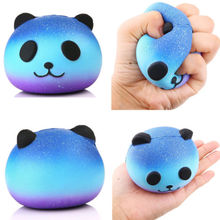 Cute Blue Sky Panda Cream Scented Squishy Slow Rising Squeeze Kid Toy Phone Charm Gift for Kids(China)