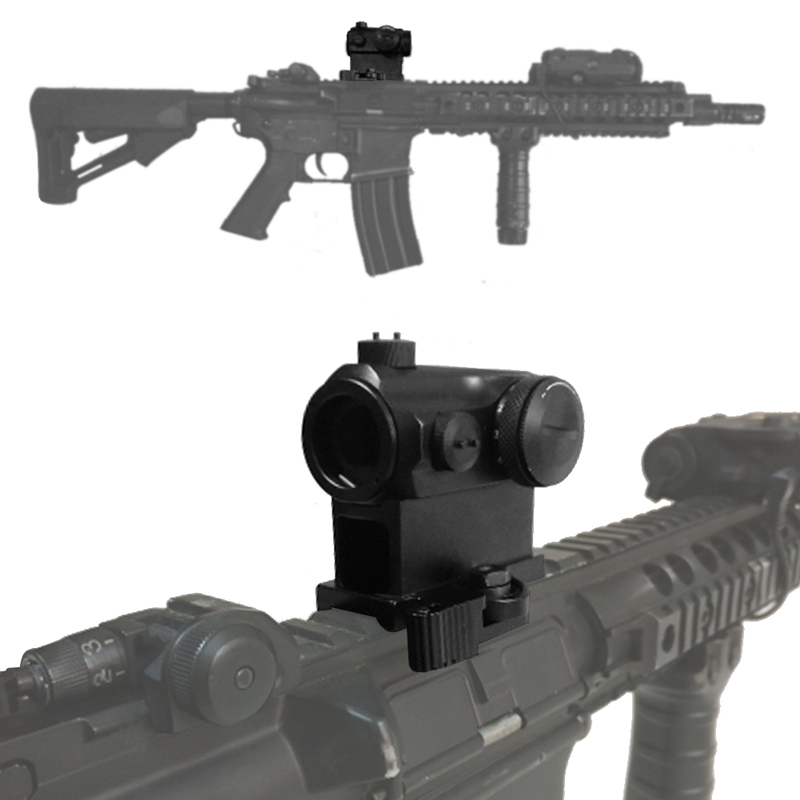 Tactical Mini 1X24 Red Dot Sight Scope with QD Quick Release Mount for Hunting Airsoft RL5-0039-12