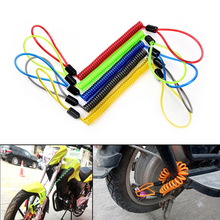 Security Reminder Bike Motorbike Tool cable bicycle lock rope Helmet wire anti-theft rope Motorcycle Scooter Disc Lock(China)