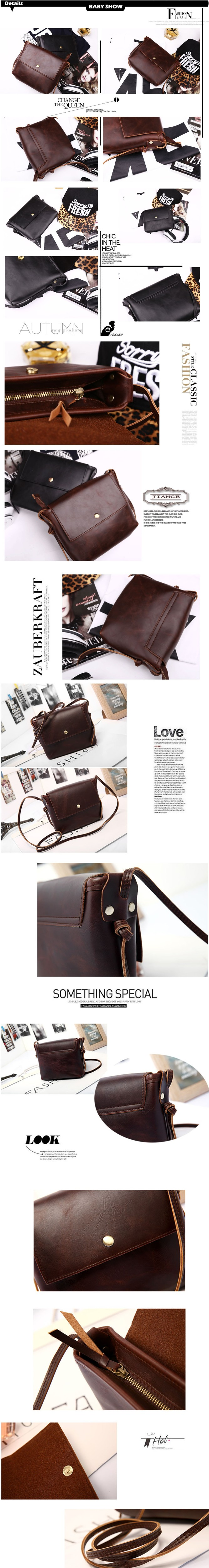 ETONWEAG Famous Brands PU Leather Women Messenger Bags Vintage Brown Flap Crossbody Bag Preppy Style Small Ladies Hand Bags