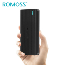 New Original ROMOSS 15000mAh Sense 15 Power Bank Backup Battery Pack Powerbank Black Blue Pink Charge for mi Huawei iPhone meizu