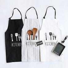 2017 New Women Men Apron Commercial Restaurant Home Bib Spun Poly Cotton Kitchen Aprons(China)