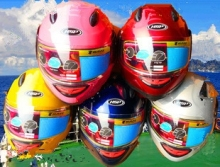 2017 New motorcycle children helmet motorcycle half face helmet with cartoon pattern kids helmet