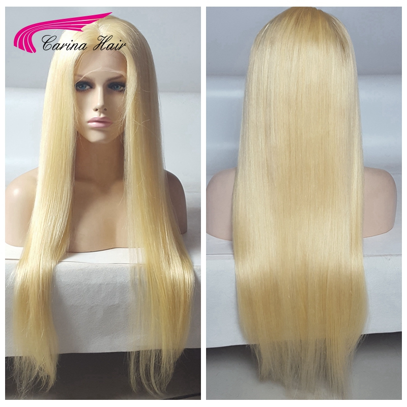 Blonde Full Lace Human Hair Wigs 130 Density Virgin Brazilian long blonde Wig Straight Human Hair Wigs free shipping blonde wig<br><br>Aliexpress