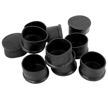 10 Pcs Black Rubber Flexible Round End Cap 50mm Foot Cover(China)