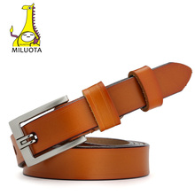 [MILUOTA] Designer Belts for Women Genuine Leather Fashion Dress belt Woman Vintage cinturones mujer MU032