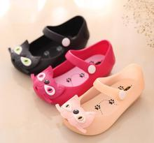 2017 Mini SED baby girls sandals cute cat baby summer jelly shoes children toddler kids Beach shoes zapatos 13-15.5 CM(China)