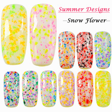 0.2g Summer Mixed Colors Irregular Thin Snow Flower 3D Nail Art Decor Sequin DIY Sea Nail Glitter Styles Charm Flake TRXH01-12(China)