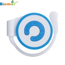 Factory Price Binmer Mini MP3 Player Worn On The Ear Music Media Player USB Support TF Card 160901 Free Shipping