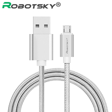 Buy Robotsky Micro USB Charger Cable 5V 2A Fast Charge USB Data Cable iPhone X 8 7 6s Plus 5 SE Nylon Braid Samsung for $1.09 in AliExpress store