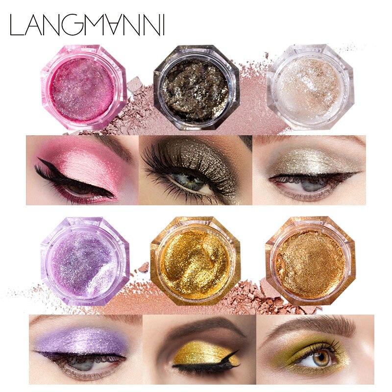 Beauty Essentials Official Website 2017 Professional Eyeshadow Palette Glitter Makeup Waterproof Diamond Pigment Eyes 6 Color Gold White Purple Blue Eye Shadows Beauty & Health