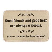 High Cotton Welcome Doormat Good Friends Good Beer Decor Door Mats Soft Lightness Short Plush Fabric Bathroom Rug Floor Mats(China)