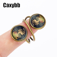 Caxybb Thrones A Song of Ice and Fire rings Game of Thrones Poniente Area Map Jewelry Movie Game of vintage ring jewelry G-R10