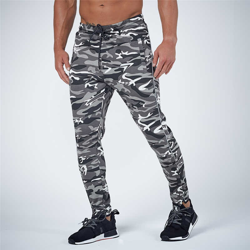 GYMOHYEAH NEW pants Men's High quality workout bodybuilding clothing casual camouflage sweatpants joggers pants skinny trousers 14