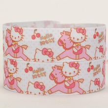 NEW sales 50 yards lively ride horse hello kitty printed grosgrain ribbons free shipping