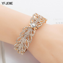Buy YFJEWE Brand Women Fashion Wedding Crystal Bracelet Woman Accessories Jewelry Beads Rhinestone Wholesale Bracelet B166 for $2.49 in AliExpress store