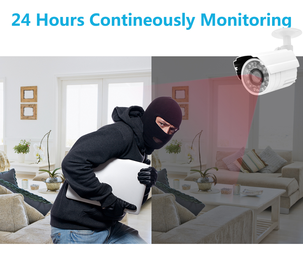 Wistino 1080P Mini AHD Camera Kits 4CH Digital Video Recorder DVR Kit CCTV Security Analog Camera Outdoor IR Video Surveillance (6)