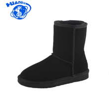 HUANQIU Women Snow Boots Fashion High Quality Genuine Suede Leather Australia Classic Warm Winter shoes woman 5825 ST226(China)