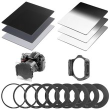 Neutral Density ND Filter Kit for Cokin P Series:Full ND Filters+Graduated ND Filters + Metal Adapter Rings+Square Filter Holder