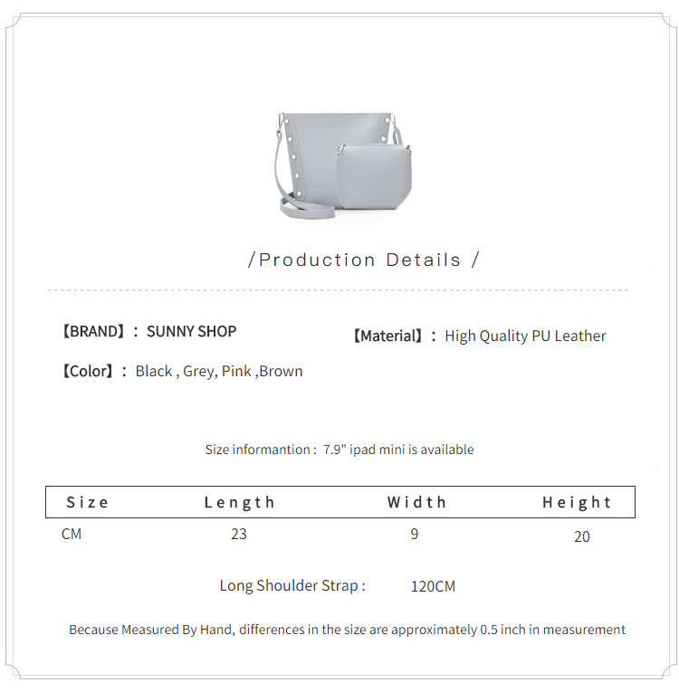 Sunny shop 2017 new korean rivets bucket women shoulder bags pu sunny shop 2017 new korean rivets bucket women shoulder bags pu leather composite bag students girls small messenger bag set us695 fandeluxe Image collections
