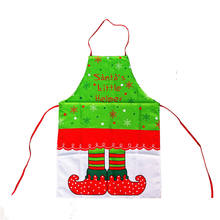 DoreenBeads Christmas Apron Socks Pattern Kitchen Bakery Cooking Antifouling Sleeveless Apron Kids Adults 40*60cm 50*70cm 1PC