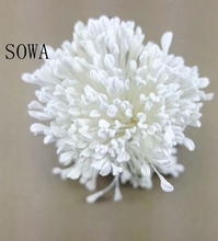 Free Shipping 280pcs 3mm High Quality White Matte Double Heads Rose Flower Stamen Pistil Cake Decoration Craft DIY(China)