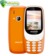 VKworld Z3310 Mobile Phone 2.4 inch Screen Dual SIM Card 1450mAh LED light 2.0MP FM Radio LED Flashlight Retro Style CellPhone(China)