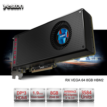 Buy Yeston Radeon RX VEGA 64 8GB HBM2 2048 bit Gaming Desktop computer PC Video Graphics Cards support PCI-E X16 3.0 HDMI/DP for $899.99 in AliExpress store