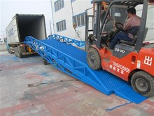 movable hydraulic dock leveler 6t 8t 10t loading lift mobile hydraulic dock ramp(China)