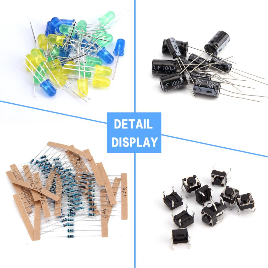 Electronics Component Basic Starter Kit W Precision Potentiometer Simple Electronic Buzzer Schematic Diagram Capacitor Compatible For Arduino Storecharger