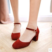 Korean version of the new spring and summer sandals OL fashion high-heeled shoes with the bag with a square head word with a sin