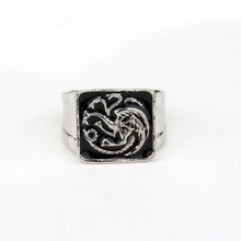 Game of Thrones Rings for Man Jewelry Ice of songs Tyrion Lannister Dragon Ring(China)