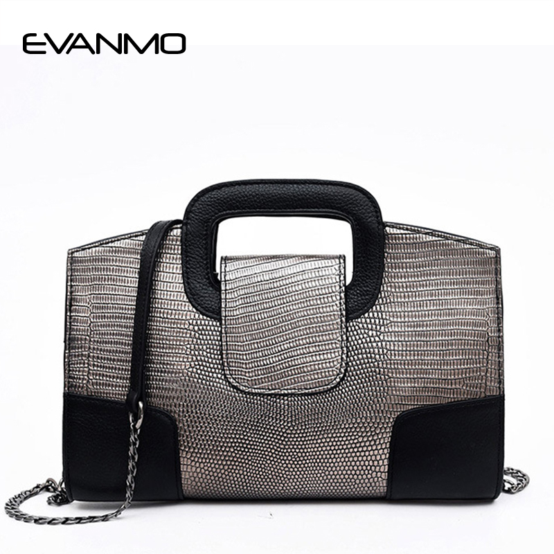 Famous Designer Brand Chain Shoulder Bag for Women Small Serpentine Handbag Purse Female Crossbody Bags Gold/Black/Gold Tote Bag<br>