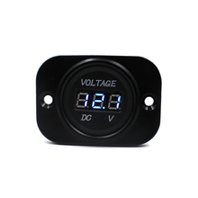 2017 Top sale New Waterproof Car Auto Motorcycle DC 12V 24V DigitalLEDDisplay Voltmeter Meter biue best price Vicky(China)